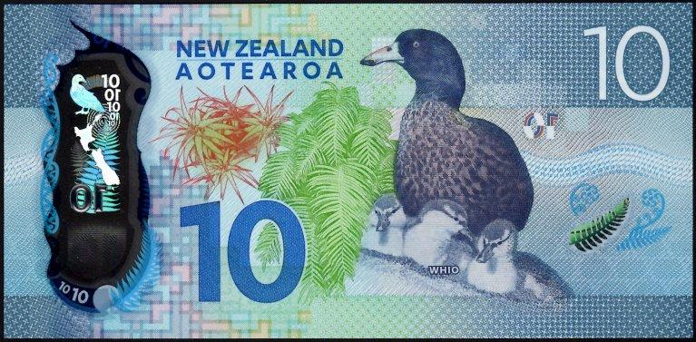 New Zealand Decimal Banknotes Ten Dollars Polymer