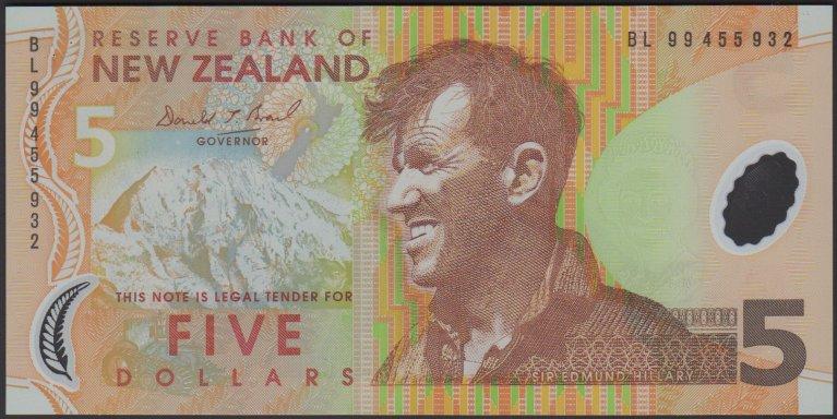 New Zealand five-dollar note