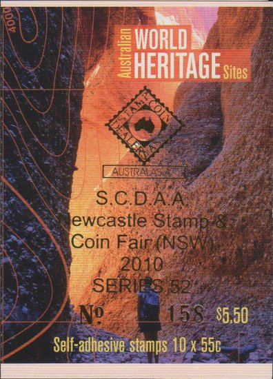 SCDAA Series 52 Philatelic Only 51 General Northern Beaches Stamp Expo Both Barcodes