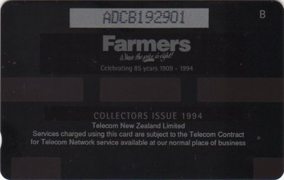 New Zealand Phonecards Farmers 85th Birthday