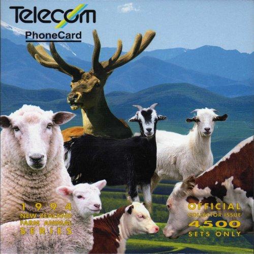 new zealand phonecards farm yard animals pack