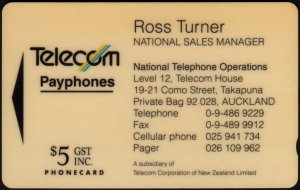 New zealand phonecards telecom business cards 1993 these are the cards i actually have reheart Image collections